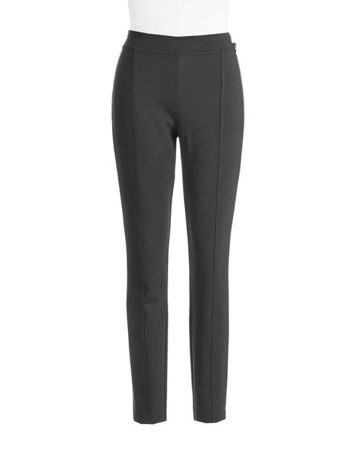 Calvin Klein | Black Seam-detail Stretch Pants | Lyst