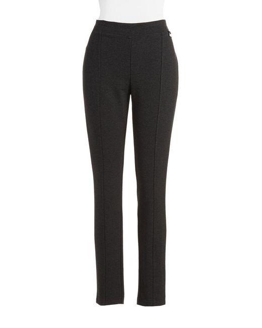 Calvin Klein | Black Seam-detail Stretch Pants | Lyst
