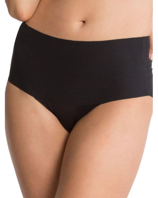 Spanx | Black Undie-tectable High-waisted Smoothing Briefs | Lyst