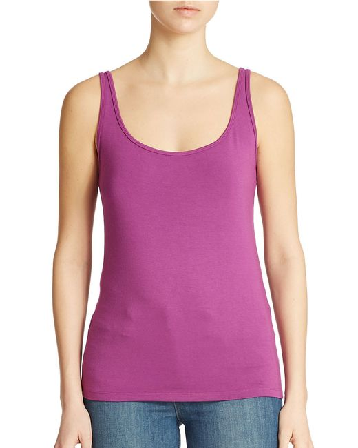 Lord & Taylor | Purple Plus Iconic Fit Slimming Scoopneck Tank | Lyst