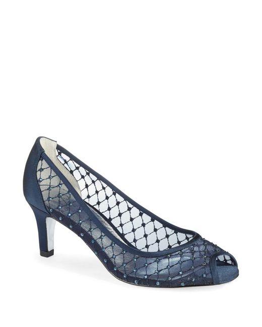 Adrianna Papell | Blue Jamie Peep Toe Heels | Lyst