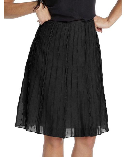 NIC+ZOE   Black Batiste Pleated Skirt   Lyst