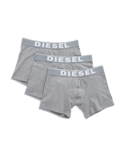 DIESEL | Gray 3-pack Long Boxers for Men | Lyst