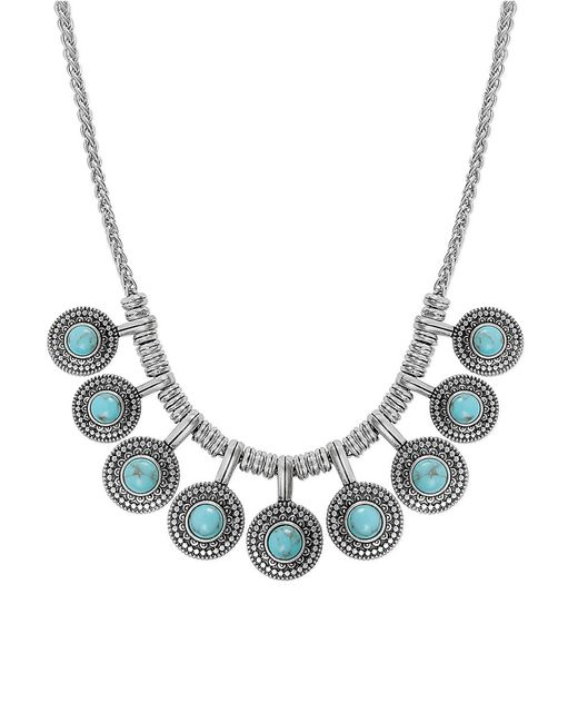 Lucky Brand | Metallic Jeweled Medallion Necklace | Lyst