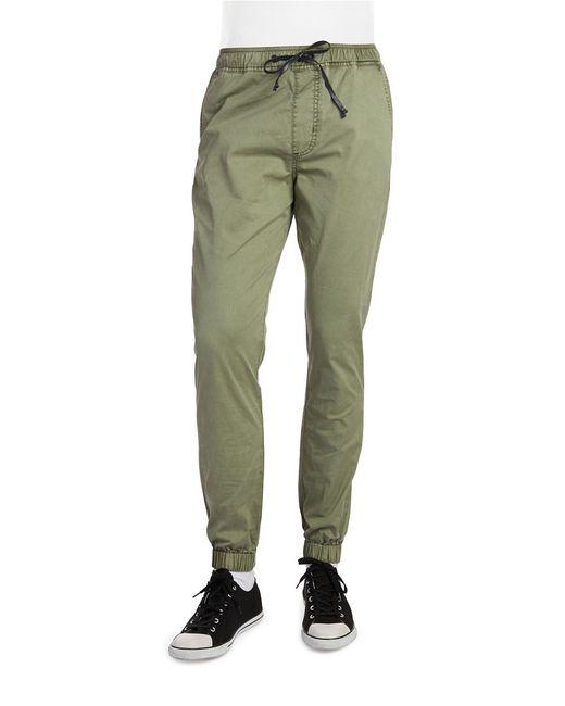 Hudson Jeans | Green Cotton Poplin Drawstring Pants for Men | Lyst