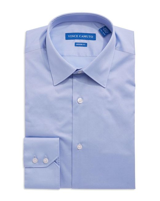 Vince Camuto | Blue Solid Dress Shirt for Men | Lyst