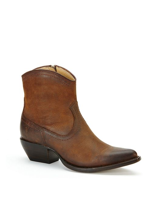 Frye | Brown Sacha Short Leather Boots | Lyst