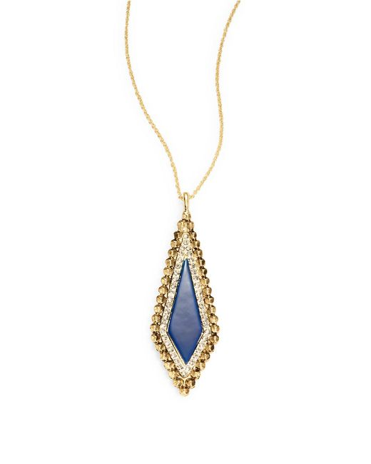 House of Harlow 1960 | Blue Geo Pendant Necklace | Lyst