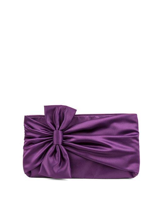 Jessica Mcclintock | Purple Dee Gathered Bow Clutch | Lyst