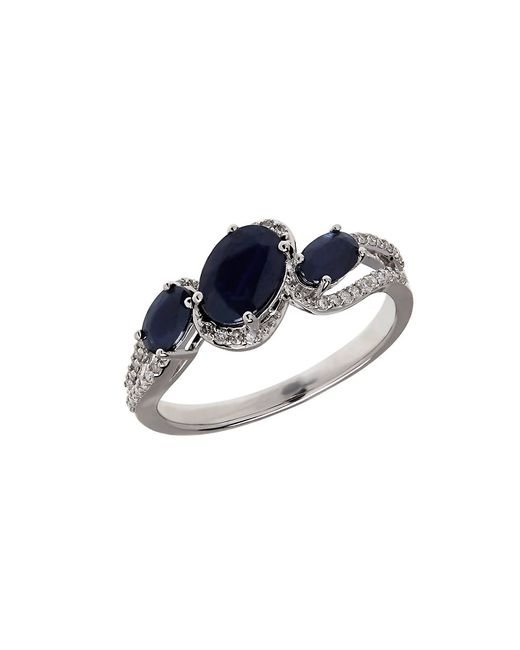 Lord & Taylor | Blue Sapphire, Diamond And 14k White Gold Ring | Lyst