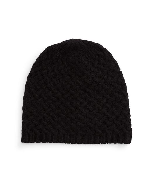 Lord & Taylor | Black Cashmere Knit Beanie | Lyst