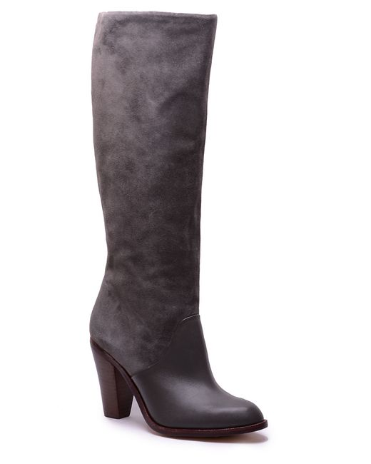 Splendid | Gray Sullie Suede & Leather Boots | Lyst