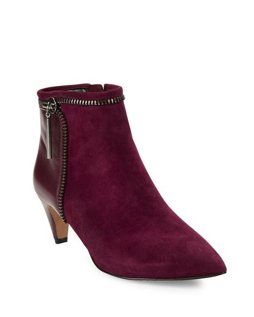 French Connection | Purple Kordelle Suede Booties | Lyst