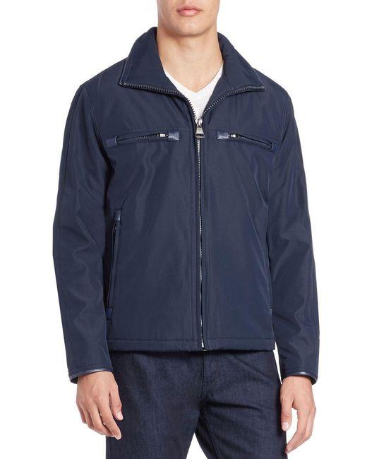 Marc New York   Blue Astoria Moto Jacket for Men   Lyst