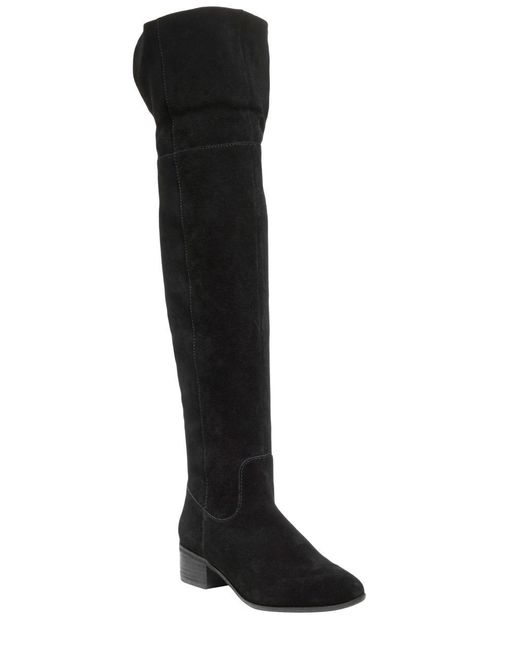 Steve Madden   Black Tyga Suede Over-the-knee Boots   Lyst