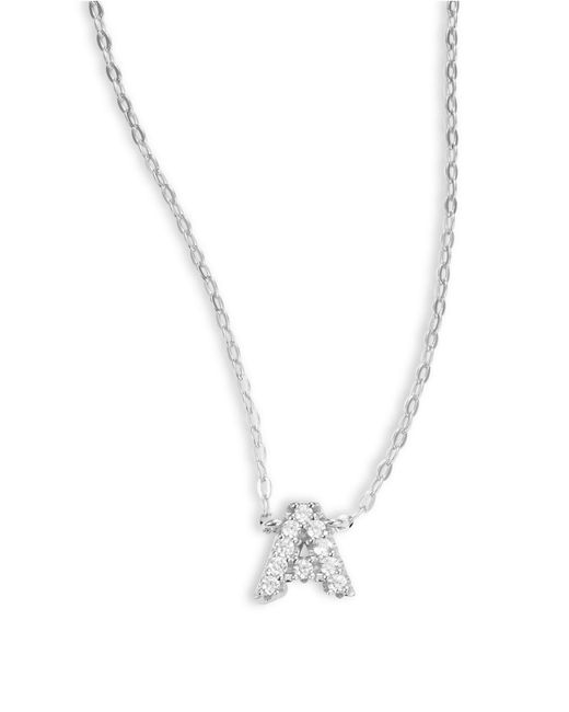 Nadri | Metallic Sterling Silver A Initial Necklace | Lyst