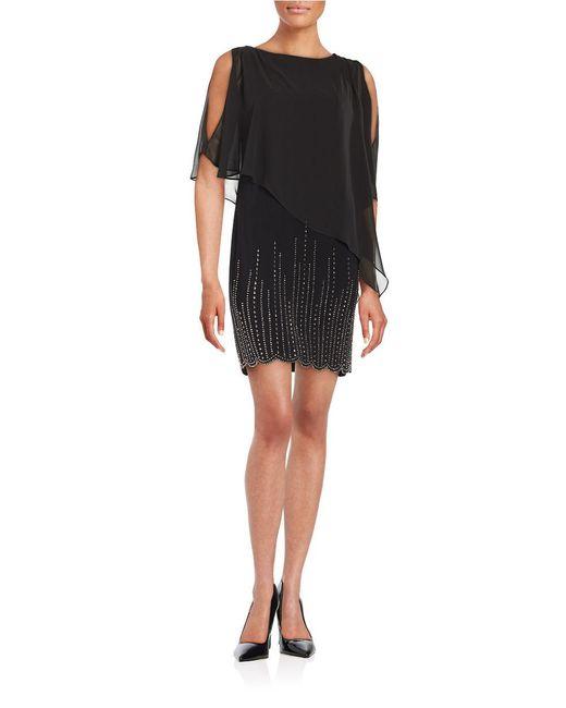 Xscape | Black Embellished Popover Dress | Lyst