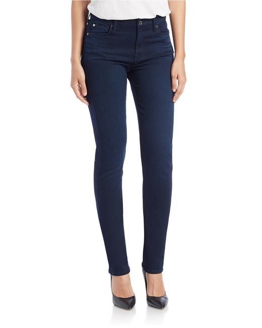 7 For All Mankind | Blue Kimmie Slim Illusion Jeans | Lyst