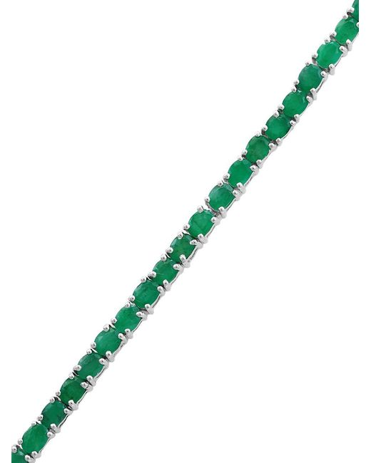 Effy | Green Emerald Sterling Silver Bracelet | Lyst