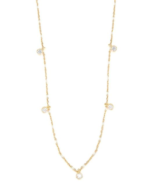 Tai | White Crystal Scatter Necklace | Lyst