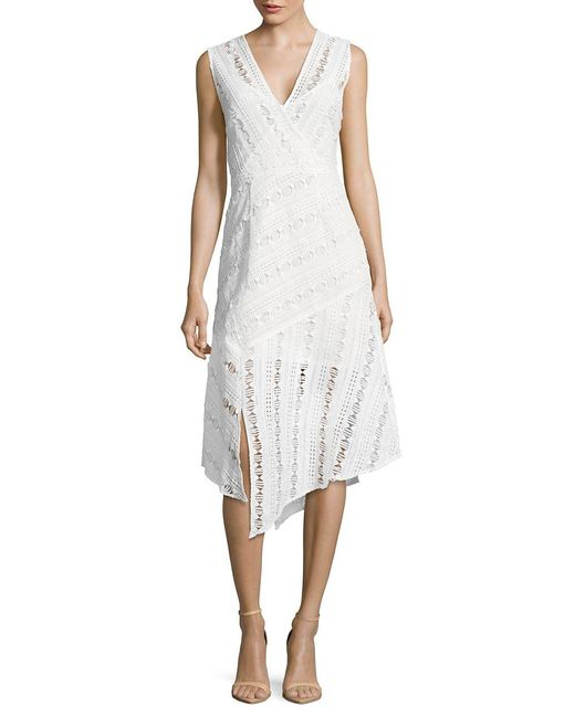 Tracy Reese   White Suprlice Lace Dress   Lyst