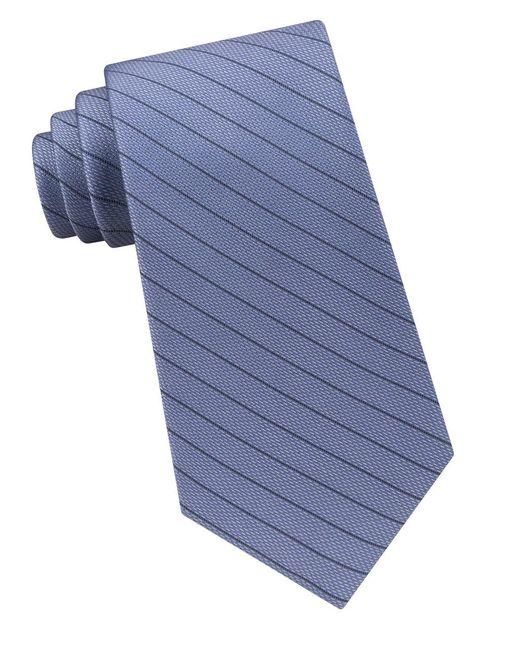 Calvin Klein | Blue Seed-stripe Silk Tie for Men | Lyst
