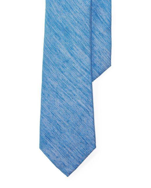 Lauren by Ralph Lauren   Blue Herringbone Linen-silk Tie for Men   Lyst