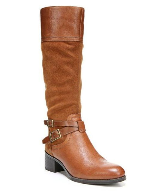 Franco Sarto | Brown Lapis Knee-high Leather Boots | Lyst