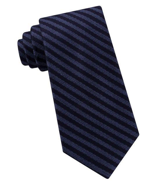 MICHAEL Michael Kors | Blue Stripe Tie for Men | Lyst