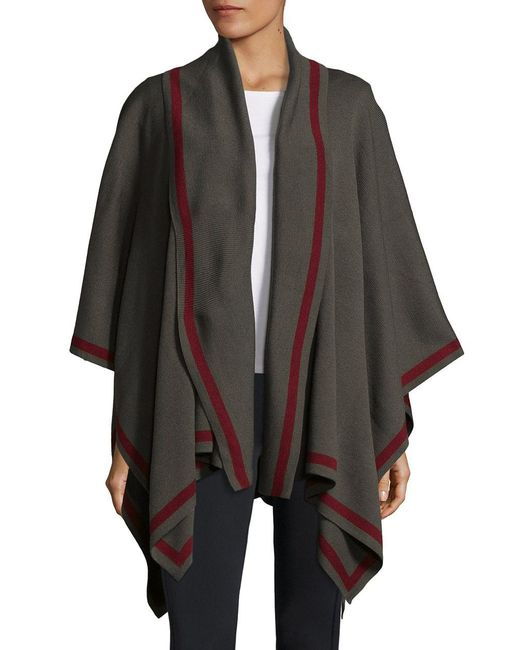 Lord & Taylor | Green Shawl Collar Cape | Lyst