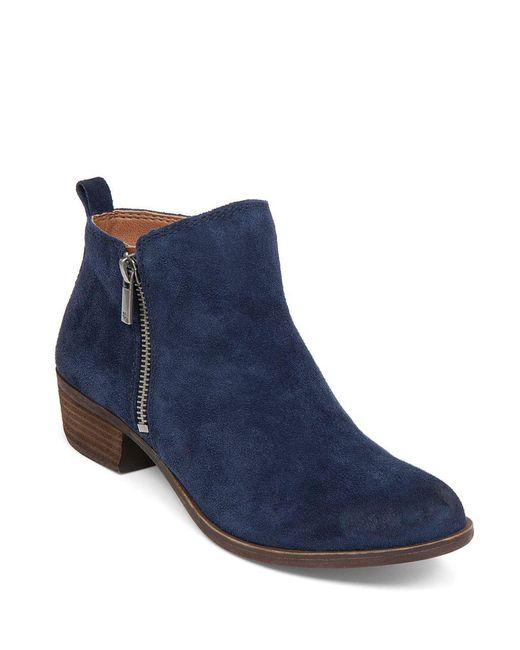 Lucky Brand | Green Basel Suede Ankle Boots | Lyst