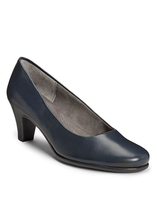 Aerosoles | Blue Redhot Glazed Leather Pumps | Lyst