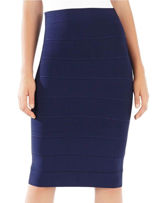 BCBGMAXAZRIA | Blue Leger High Waist Power Skirt | Lyst