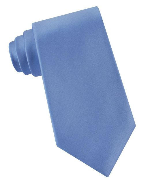 Lord & Taylor | Blue Solid Silk Tie for Men | Lyst
