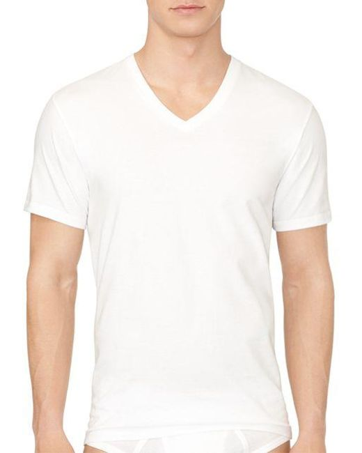 Calvin Klein | White Two-pack Cotton Classic V-neck Tee for Men | Lyst