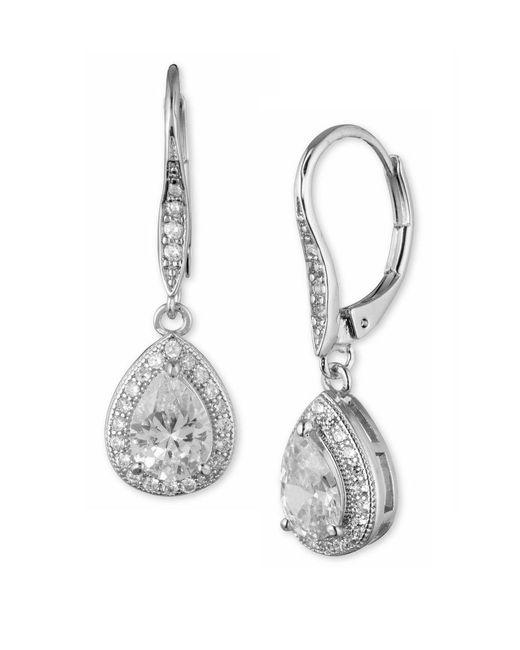 1f77a66d2ce26 Women's Metallic Cubic Zirconia Pear Drop Earrings
