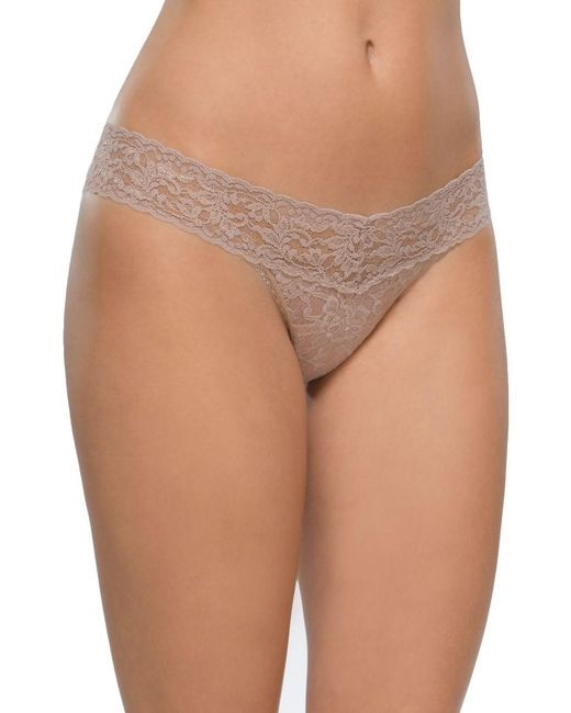 Hanky Panky - Brown Low-rise Lace Thong - Lyst