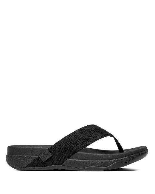 b37248007 Lyst - Fitflop Surfer Flip Flops in Black for Men