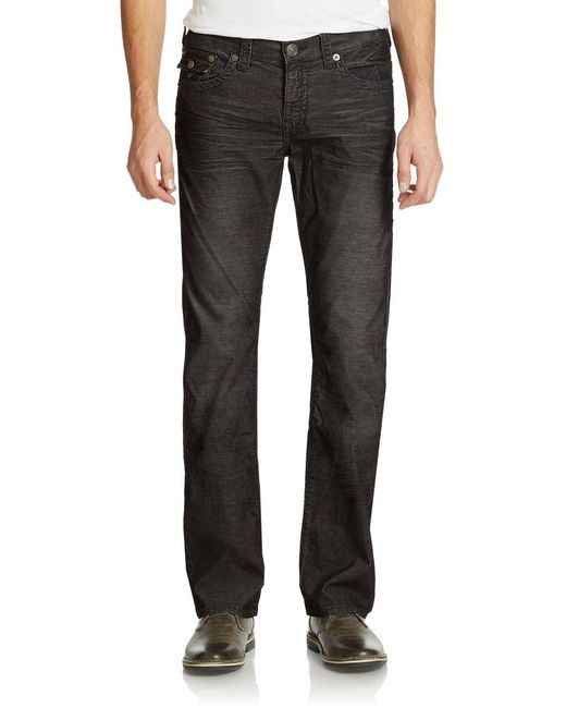 True Religion - Black Ricky Relaxed Straight-fit Pants for Men - Lyst