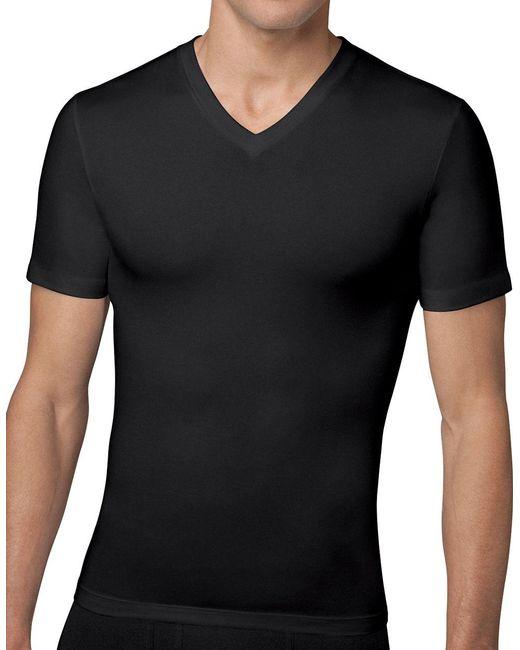 Spanx - Black Cotton Compression V-neck Tee for Men - Lyst