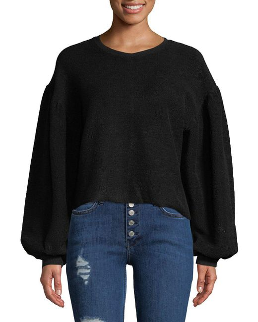 Free People - Black Sleeves Like These Pullover - Lyst