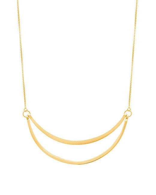 Lord & Taylor - Metallic Gold Double-row Crescent Slider Necklace - Lyst