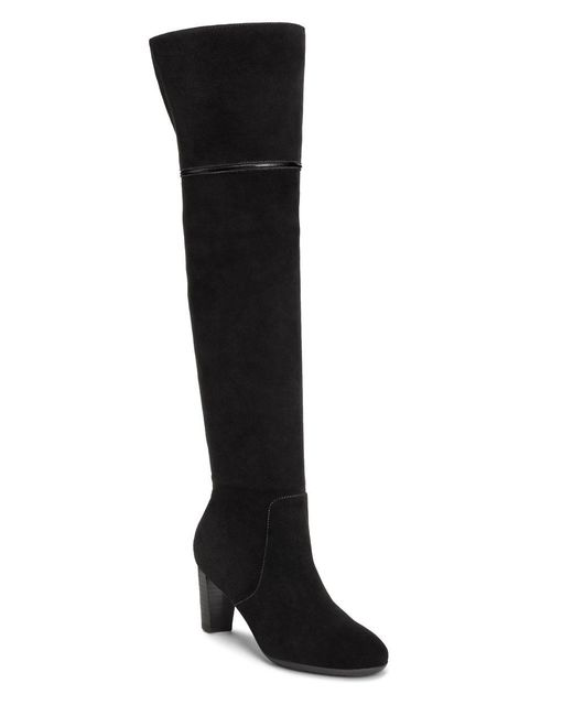 Aerosoles | Black Lavender Suede Over-the-knee Boots | Lyst