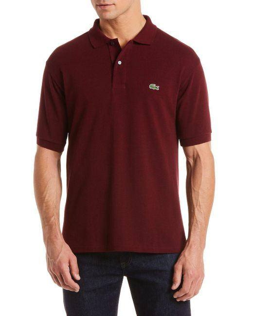 Lacoste - Red Classic Cotton Pique Polo for Men - Lyst
