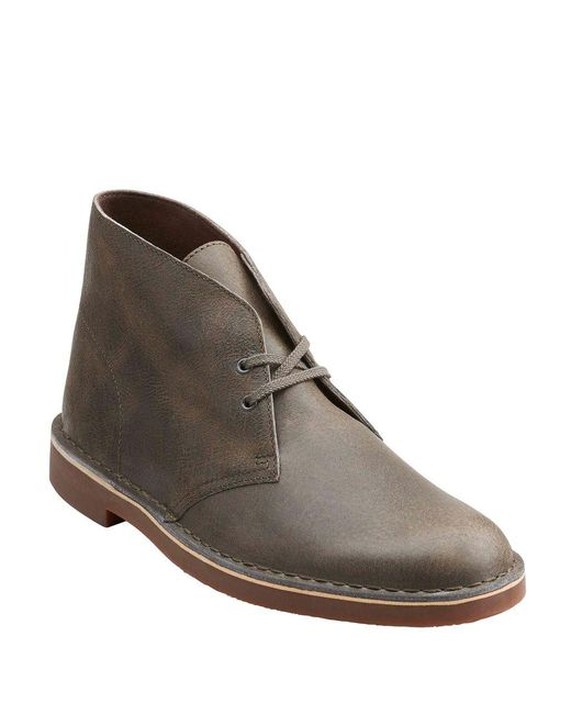 Clarks - Gray Bushacre 2 Leather Chukka Boots for Men - Lyst