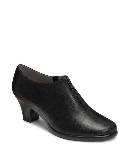 Aerosoles - Black Email Zip-up Ankle Boots - Lyst