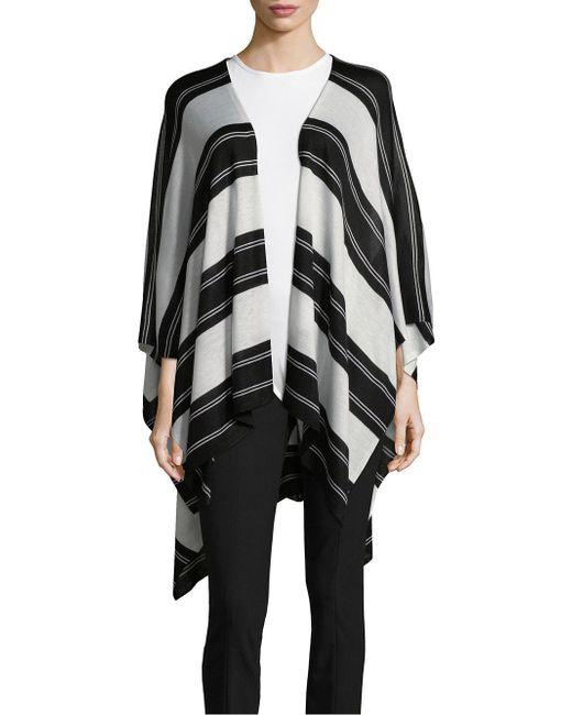 Lauren by Ralph Lauren - Black Multi-stripe Ruana - Lyst