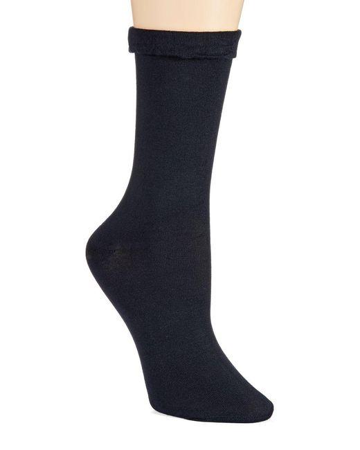 Hue - Blue Floral-patterned Socks - Lyst