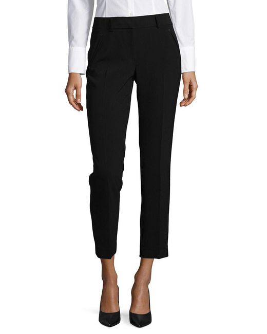 Karl Lagerfeld - Black Cropped Straight Leg Pants - Lyst