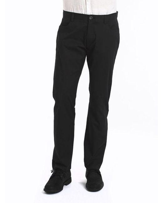 Calvin Klein - Black Four-pocket Sateen Pants for Men - Lyst